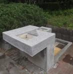 所沢 K公園様 水飲み台研ぎ出し仕上げ補修